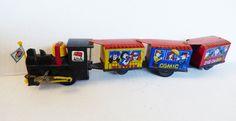 VTG Western Comic Zig Zag Express Train Tin Key Wound Wind up toy   eBay