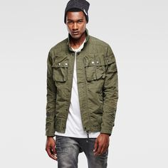 G-Star RAW | Men | Military | Ospak Lightweight Jacket , Forest Night