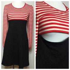 Sweet Mama Rockabilly Nursing Maternity Dress Striped Pin Up Large U6 | eBay