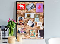 How to make a pin board from wine corks