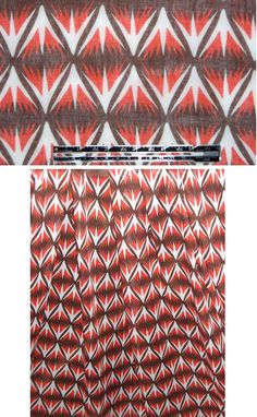 Milly primitive Italian cotton voile - red EmmaOneSock.com