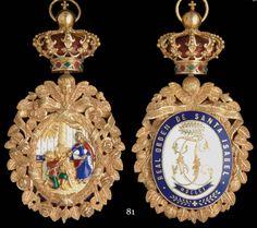 Order of Saint Isabel (Portugal) - Badge bestowed upon Princess Louise of…