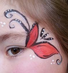 flattern durch, flutter through, Girl Face Painting, Face Painting Designs, Painting For Kids, Body Painting, Butterfly Face Paint, Make Carnaval, Musical Hair, Face Paint Makeup, Blue Makeup