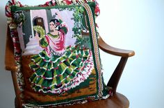 SALE handmade pillow / cushion with vintage door patcheduppillows, €25.00