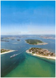Poole Harbour, Dorset, UK..took ferry to france from here