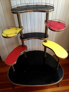 Mid Century Decorative Display Shelf / Stand by saltydogvintage, $330.00