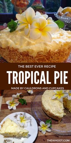 Tropical Pie Recipe Easy Delicious Old Fashioned Favorite