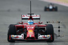 Ferrari trying to get a good TV signal on the side of the F14-T, oh no its an aero sensor.