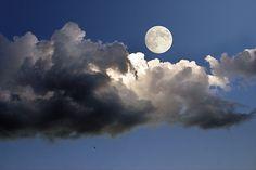 Blue Pueblo (moon,clouds,serbia)