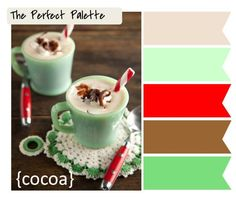 Shades of Mint + Red http://www.theperfectpalette.com/2011/11/holiday-color-palettes-whats-your.html