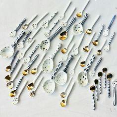 Bridget Bodenham handmade spoons click now to see more. Ceramic Spoons, Ceramic Clay, Ceramic Plates, Slab Pottery, Ceramic Pottery, Atelier D Art, Tadelakt, Pottery Classes, Pottery Designs
