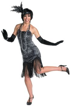 About Costume Shop Flirty Flapper Costume - Flirty Flapper AdultCostumeYou'll feelelegantly sexy in this 1920 era western costume!Costume Includes: Dress, full length gloves, headpiece, necklace and bracelet. Flapper Girl Costumes, Gangster Costumes, Western Costumes, 1920s Costume, Adult Costumes, Costumes For Women, Halloween Costumes, Adult Halloween, Halloween Ideas