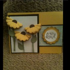 The 3D effect and the distressing of the embossed petals make this a stand out card!