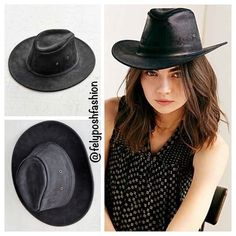 "Urban Outfitters Henschel Leather Cowboy Hat Urban Outfitters Henschel Leather Cowboy Hat Henschel Hat Co. U.S.A. Black Leather ""Mini Cowboy Hat"". tured cowboy hat, from Henschel, crafted in soft, distressed leather with antiqued metal eyelet detailing along the crown. Content + Care- Leather- Wipe clean- Imported Purchased from Urban Outfitters. Henschel Hat Co., creators and manufacturers of fine headwear in the USA since 1947. High quality design and materials. Sold out online. Tag size…"