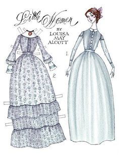 Little Women: Jo March* 1500 free paper dolls international artist Arielle Gabriel's The Internatonal Paper Doll Society for paper doll pals at Pinterest *