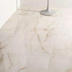 "Lumina Pearl Onyx 24X48"" Porcelain Marble Look Tile | Tilebar"