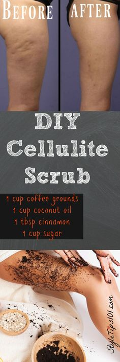 DIY Cellulite Scrub #fitness_outfits_diy
