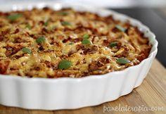 PANELATERAPIA - Blog de Culinária, Gastronomia e Receitas: Torta de Macarrão Cabelo de Anjo