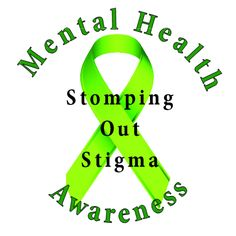 Stomp Out Stigma With This Green Ribbon For Mental Health Awareness Image Printed On A