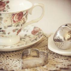 Rose tea cup