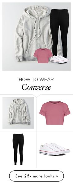 """""""Untitled #3416"""" by laurenatria11 on Polyvore featuring American Eagle Outfitters, Boohoo and Converse"""
