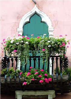 Beautiful Balcony  Window boxes<3
