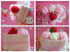 STRAWBERRY FELT CAKE by Shiroyi.deviantart.com on @deviantART