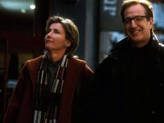Co-stars ... Actress Emma Thompson with Alan Rickman in scene from Love Actually.