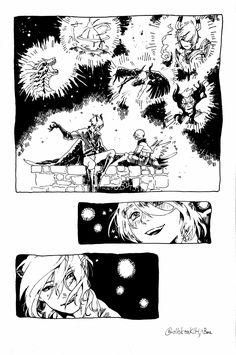 @blut_s twitter_azazel telling story of defeating bahamut Shingeki No Bahamut Genesis, Comic Styles, Telling Stories, Anime Couples, Manga Anime, Cool Art, Comics, Drawings, Artwork