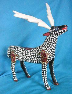 Big deer oaxaca wood carving by Teyacapan, via Flickr