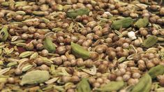 toasted cardamom, cumin and coriander seeds
