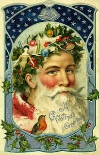 Antique Christmas Postcard Father Christmas by naturepoet on Etsy Beautiful Christmas Cards, Vintage Christmas Images, Noel Christmas, Victorian Christmas, Father Christmas, Vintage Holiday, Christmas Greetings, Christmas Crafts, Christmas Postcards
