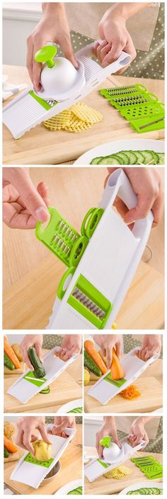 5PCS Practical Fruit Vegetable Cutter Kit,use the coupon code:Happyday07 #gadegts#discount#