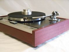 Vintage Restored/Customized Thorens TD-125 Turntable, Solid Purpleheart, SME 3009 Tonearm, Shure V-15 iii cartridge
