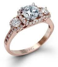 In platinum or white gold Sophisticated Simon G. Fantasy Wedding, Dream Wedding, Wedding Stuff, Wedding Dress, Dear Boyfriend, Halo Engagement Rings, Copper Color, Custom Jewelry, Jewelry Stores