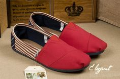 New Arrival Toms women shoes Red flag ..$17! ♥♥♥