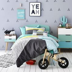 Colorful Scandinavian boy room