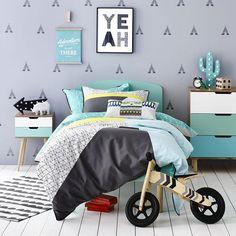 Colorful Scandinavian boy room