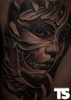 3d face by Victor Portugal | tattoo artist – Krakow, Poland