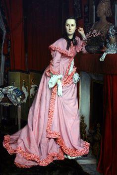 james tissot - Portrait of the Marquise de Miramon -1866