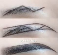 Simple and easy to learn beautiful eyebrow makeup - Make-up - Accesorios para Maquillaje Eyebrow Makeup Tips, Makeup Videos, Makeup Tools, Skin Makeup, Beauty Makeup, Makeup Hacks, Makeup Routine, Makeup Products, Learn Makeup