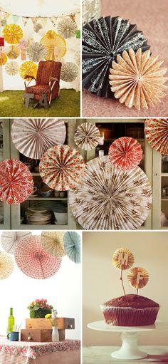 paper pinwheels- a fun party decoration