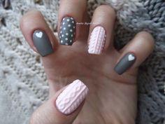 Aneta Bujak Nails: Sweterkowe paznokcie- knit nails
