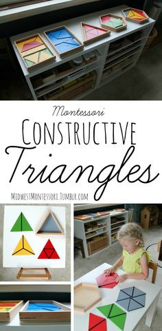 I had heard about the constructive triangles before but it wasn't until I got my hands on them last summer in my Montessori teacher training that I really even knew what they were or how to use them....