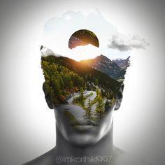 Discover the coolest Man and the Nature ⛰ #madewithpicsart #madebyme @imkarthik1997 @picsart #art #artistic #artwork #DoubleExposure #doubleexposures #portrai