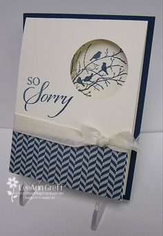 SU! Serene Silhouettes and So Sorry stamp sets - LeAnn Greff