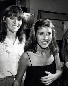 Carrie Fisher and Margot Kidder. Lois Lane and Princess Leia