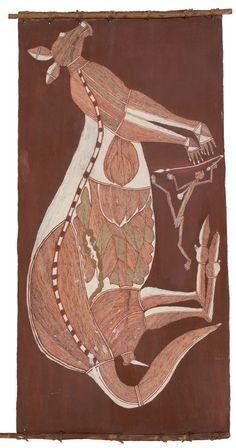 MURRUMURRU depiction of mim Hunting Kangaroos