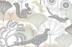 Absztrakt,állatok,gyerek,rajzolt,természeti mintás,virágmintás,bézs-drapp,fehér,szürke,lemosható,vlies tapéta