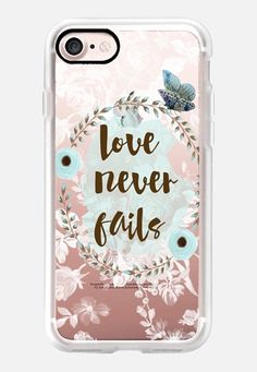 Casetify iPhone 7 Classic Grip Case - Love Never Fails by Li Zamperini Art #Casetify